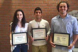 2016 Waste Reduction Student Scholarship Recipients